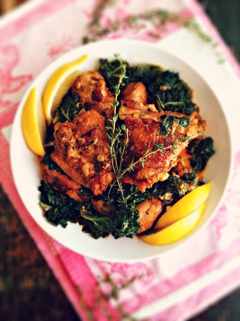Braised chicken and kale | My Life As Food | Pinterest