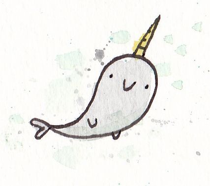 cute narwhal drawing | Party/Birthday Ideas | Pinterest