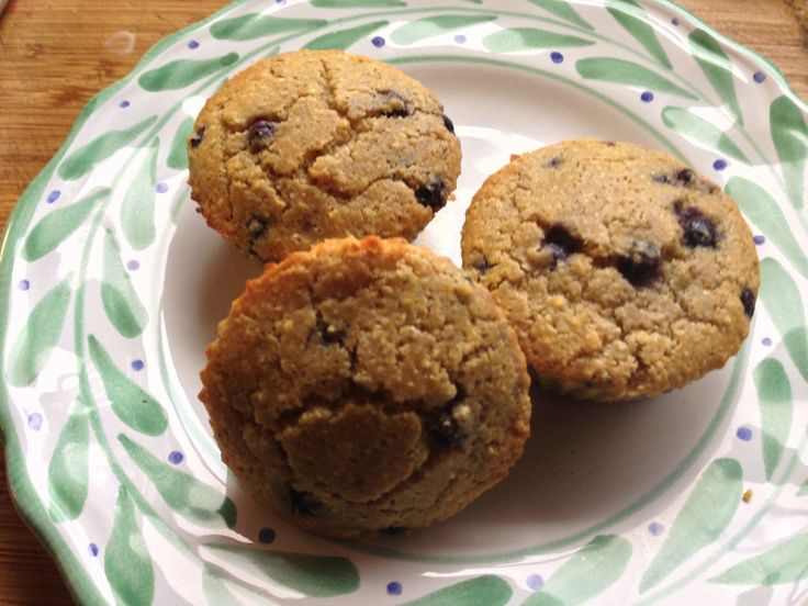 GF & SF Blueberry corn muffins - used GF blend, coconut oil, almond ...