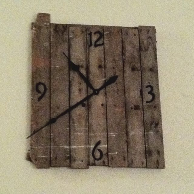 Clock I Made From Old Barn Wood Craft Ideas Pinterest
