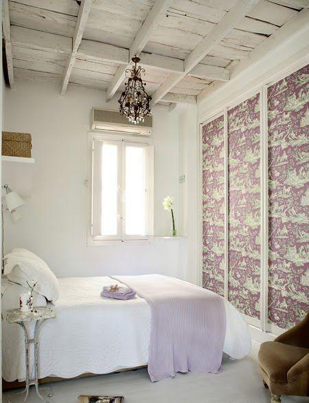 Lavender printed wallpaper- FORRAR MUEBLES CON PAPEL PINTADO