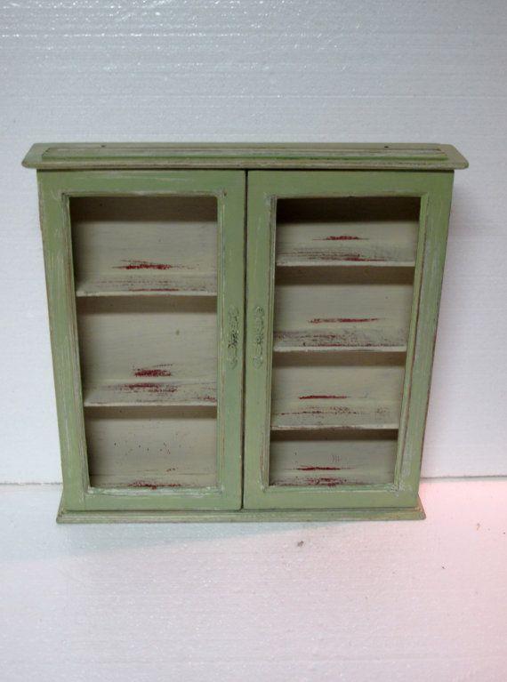 Vintage Salvage Wood Kitchen Spice Cabinet By VintageChichibean 32