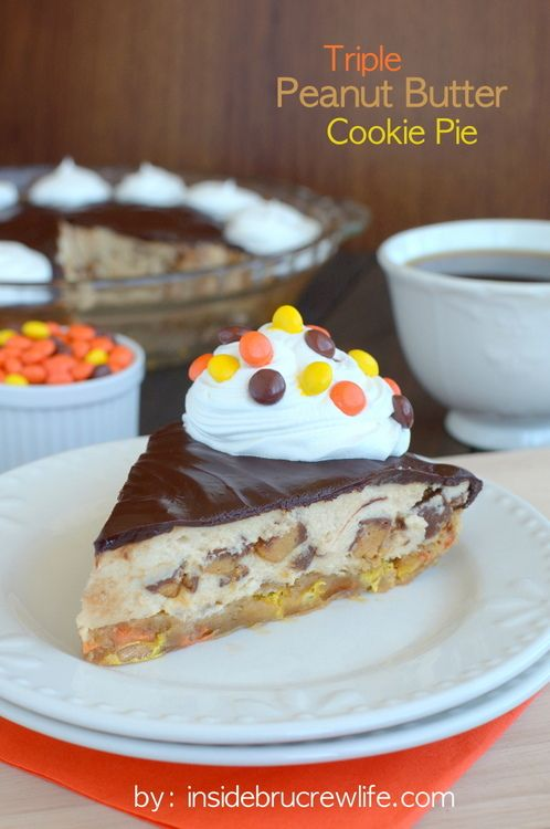 Triple Peanut Butter Cookie Pie - three times the peanut butter makes ...