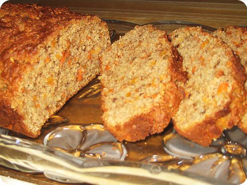 More like this: carrot bread , carrots and ground cinnamon .