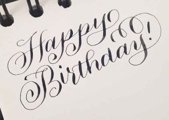 Happy Birthday Lettering Maker ~ Happy birthday writing fonts imgkid the image kid has it
