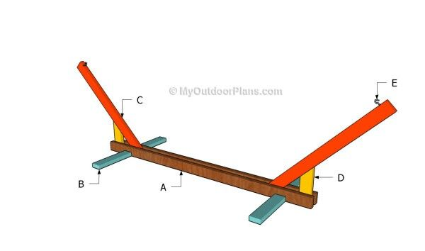 DIY hammock stand | Garden & Outside Decor | Pinterest