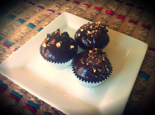 Chocolate, Stout and Espresso Cupcakes with Chocolate Covered Pretzels ...