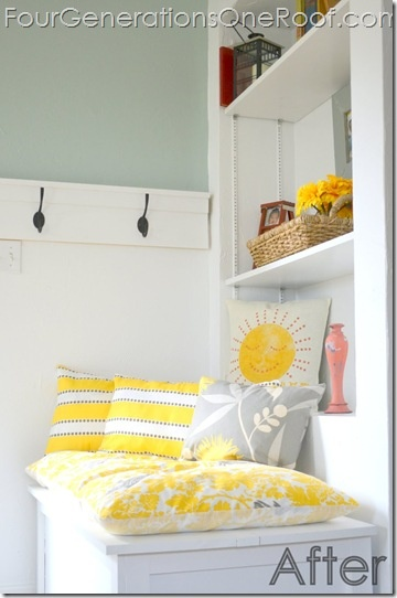 fun to see our winner's pillow sitting there - she chose the sunshine pillow ;)
