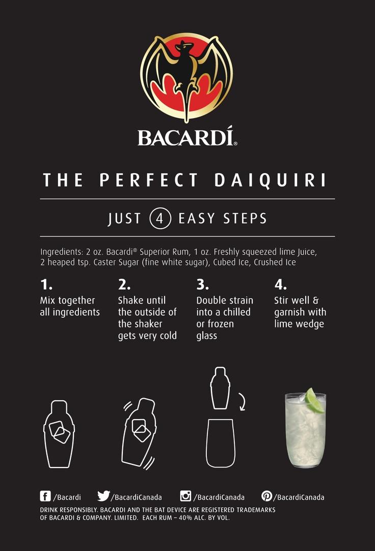 The Perfect Daiquiri | Fucando Bacardi | Pinterest