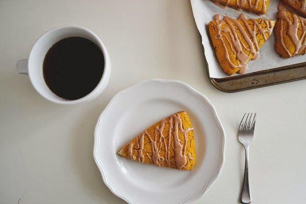 urban nester: gluten-free pumpkin scones with maple icing