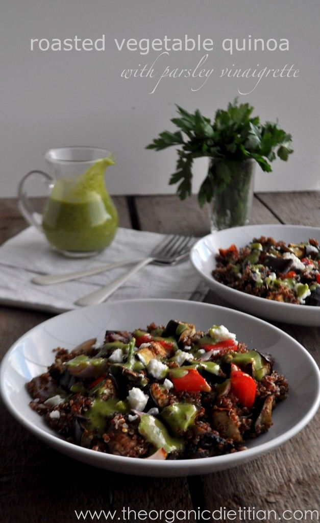 Roasted vegetable quinoa with parsley vinaigrette, www ...