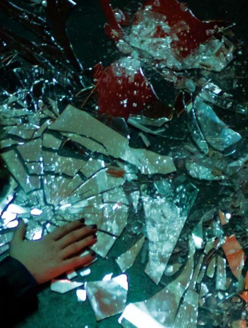 broken glass. s...
