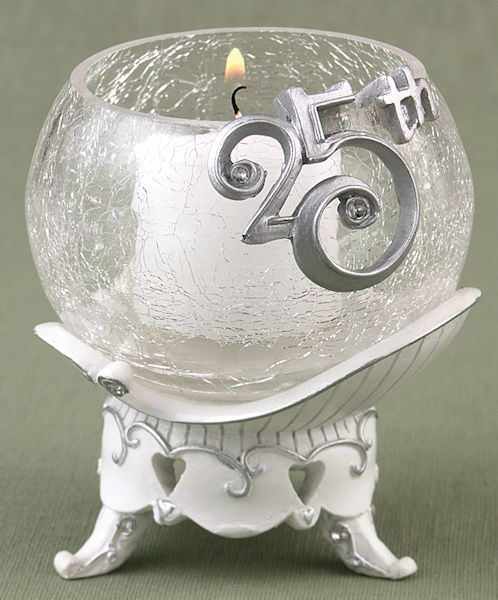 25th anniversary party votive stand for 25th wedding anniversary decoration ideas