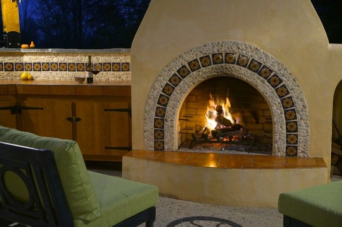Mexican Style Fireplace Home Ideas Pinterest