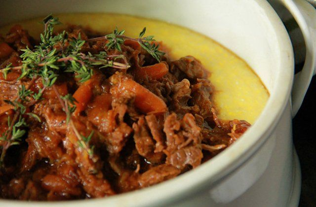Guinness-braised beef ragout with braised cabbage