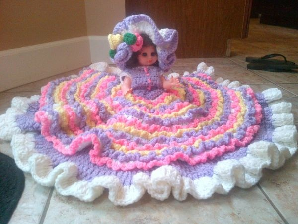Knitting Patterns For Dolls Bedding : bed doll...My mother made and sold these Crochet / Knitting Pinte?
