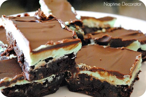 Creme de Menthe Brownies - aka Perfect St. Patrick's Day Dessert