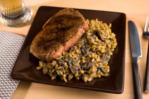 Kamut with Mushrooms and Blue Cheese | Slow Cooker Recipes | Pinterest