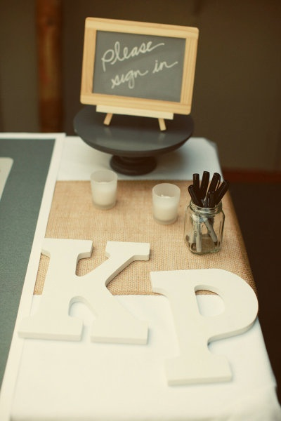 "i love this for a guestbook - could spell out a word like ""love"" or our initials! or the date"