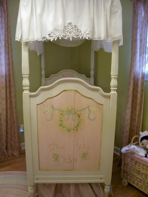 Canopy crib baby decor pinterest for Baby girl canopy cribs