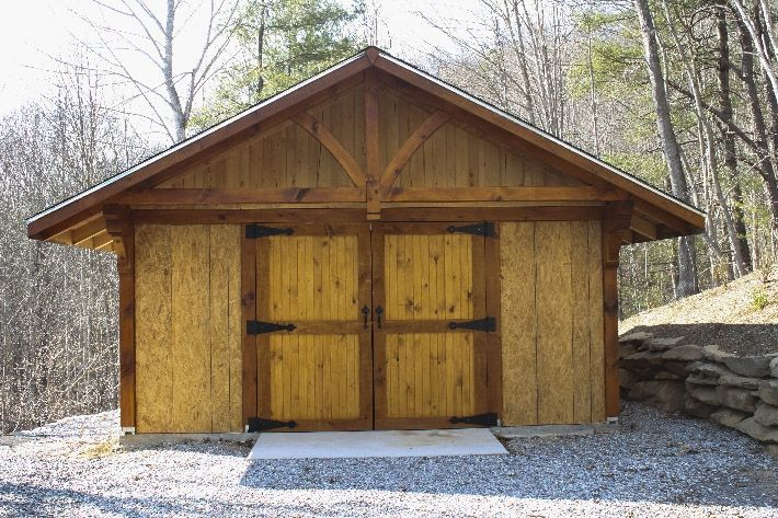 Small Sheds And Barns : Small post and beam barn shed image i have a dream