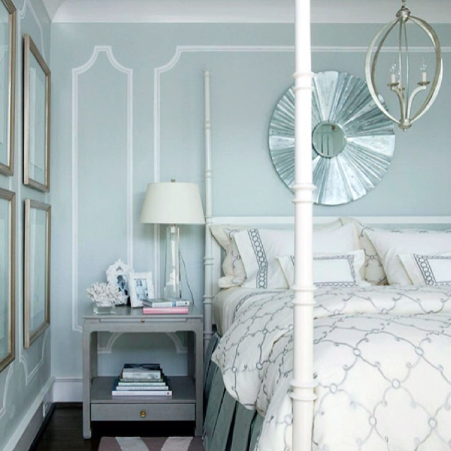 wainscoting love this blue gray color awesome for bedroom or