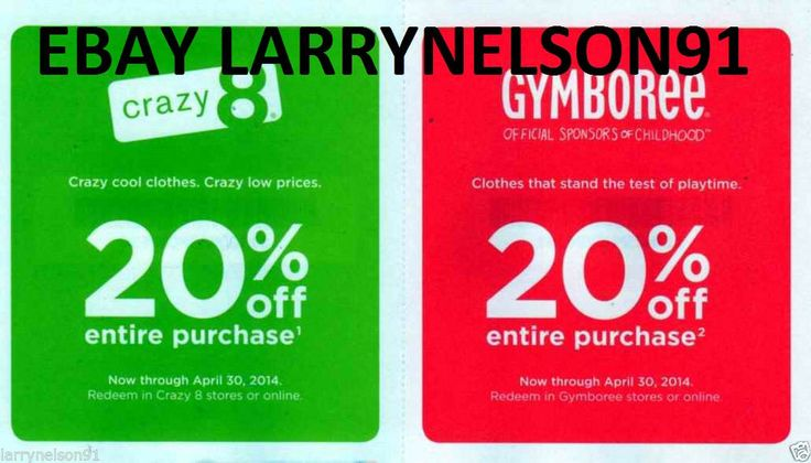 graphic about Gymboree Printable Coupon titled Gymboree coupon 20 off december 2018 - Tree clics coupon