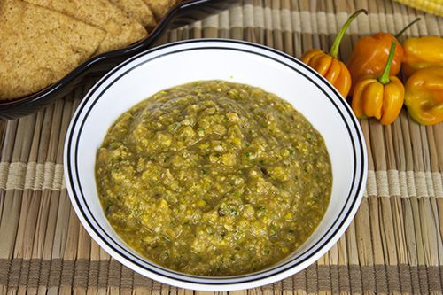 Roasted Corn and Habanero Salsa Verde | Vegetarian -Happy Foods for G ...