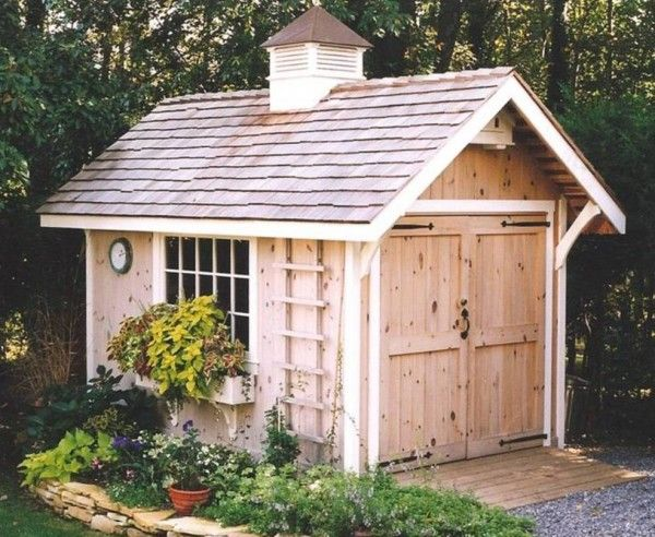 Pretty Storage Shed Outdoor Living Pinterest