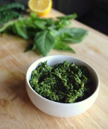 Skinny Kale Basil Pesto | Live. Love. EAT. | Pinterest