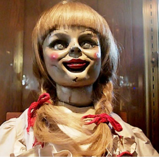 The Annabelle doll ...creepy..The Conjuring