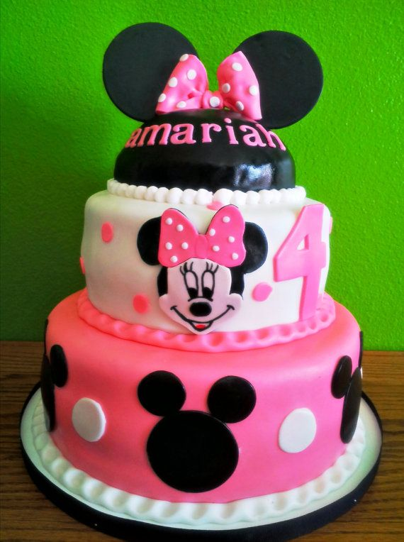 diy minnie mouse cakes