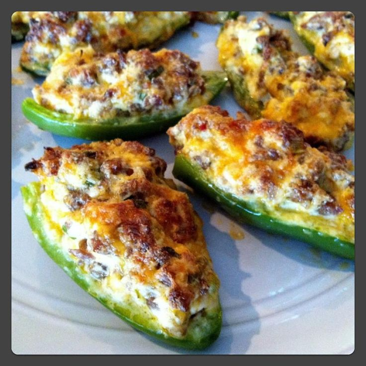 Stuffed Pepper Poppers Recipe - Super tasty and healthy snack :).
