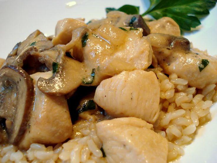 Chicken with Mustard Marscarpone Sauce | savory | Pinterest