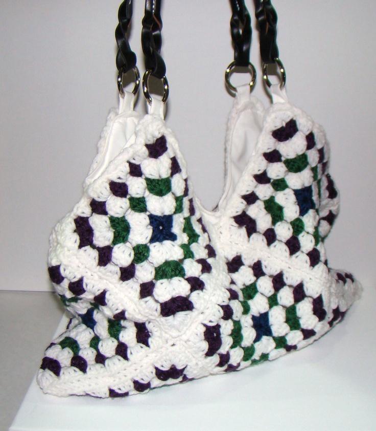 Crochet Granny Square Hobo Bag Pattern : Granny Square Hobo Bag Crochet Purse crochet Pinterest