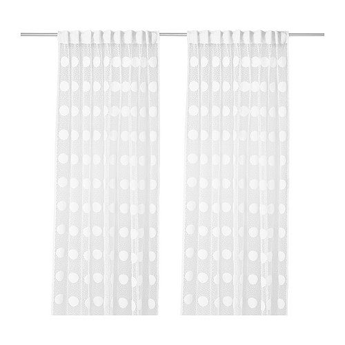 Outdoor Waterproof Curtains Patio White Lace Sheer Curtains