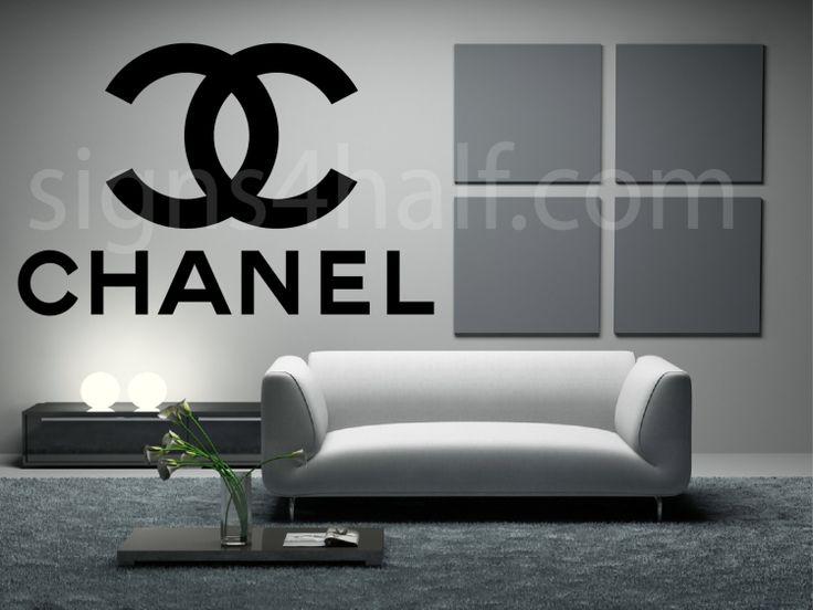 coco chanel designer logo removable wall decor decal vinyl