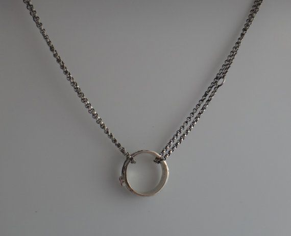 sterling silver wedding ring holder necklace