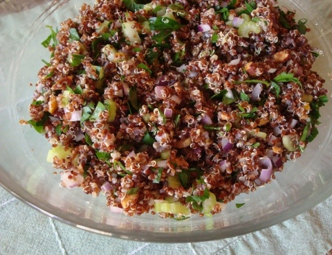 Lemony quinoa with crunch! YUM!! | want to try | Pinterest
