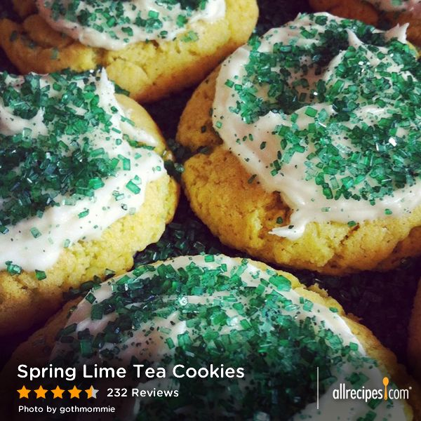 "Spring Lime Tea Cookies | ""They are really light and fluffy, I added ..."