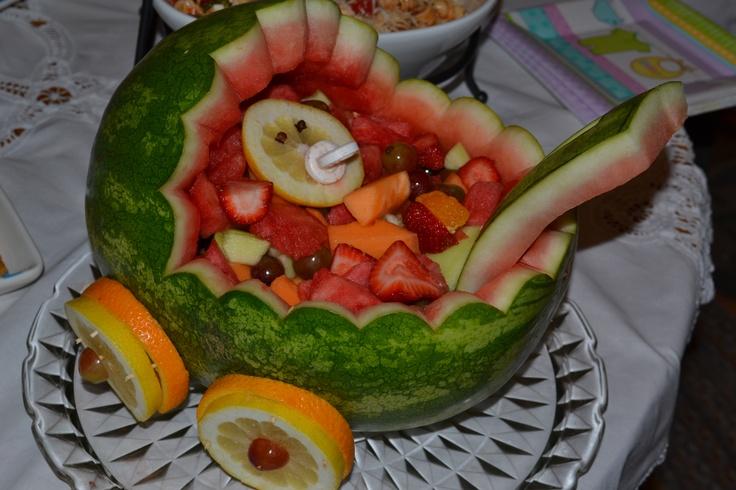 baby shower watermelon carriage littleman mustache babyshower pin