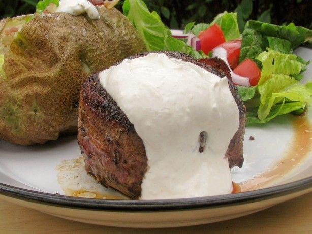Bacon-Wrapped Filet Mignon With Horseradish Sauce | Recipe