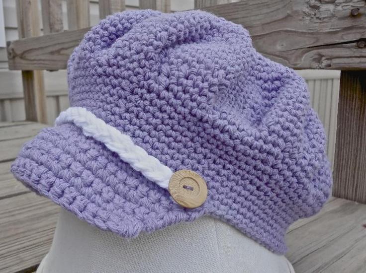 Free Crochet Pattern For A Newsboy Hat : Newsboy Hat {Free Pattern} Wear: on head Pinterest