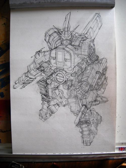 London Underground Gundam robot - Alex Young