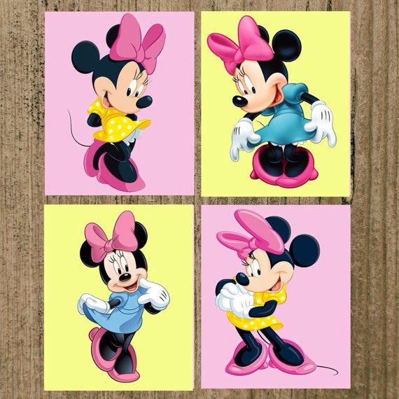 minnie mouse nursery prints set of 4 8x10 wall decor copy on etsy 24