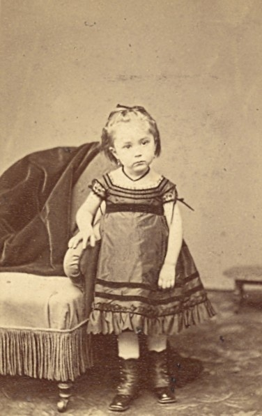 France Children Fashion Second Empire CDV Photo 1865