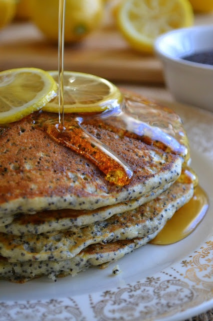 ... Great Island: Day #7 of All Citrus Week: Lemon Poppy Seed Pancakes
