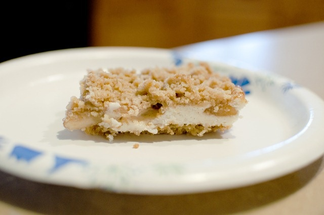 Apple Streusel Cheesecake Bars | Sweets | Pinterest