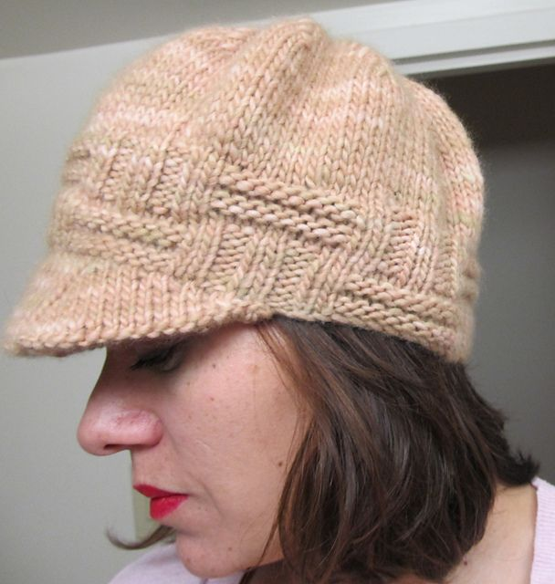 Cute newsboy style hat Knitting Pinterest
