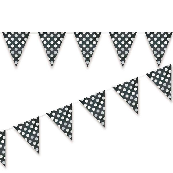 Un impactante bander n negro con puntos blancos para la - Decoracion blanco y negro ...